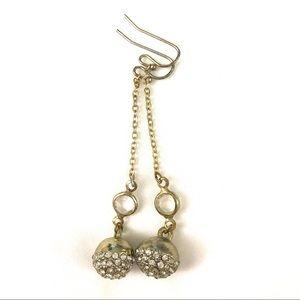 💙 J Crew Gold & Stone Drop Earrings